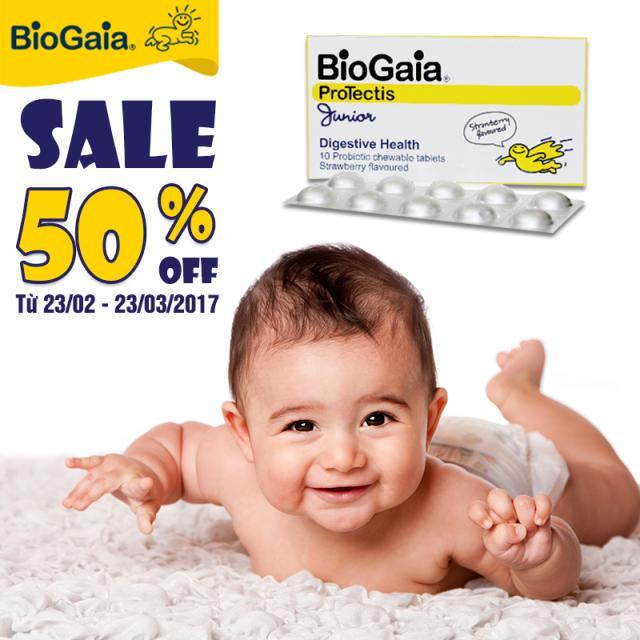 Khuyến mại hang viên BioGaia lên tới 50%