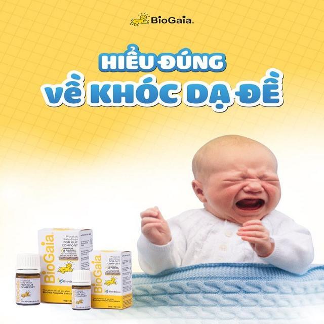 Hiểu đúng về khóc dạ đề (Colic) ở trẻ sơ sinh