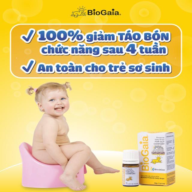 Trẻ sơ sinh bị táo bón chức năng 100% khỏi sau 4 tuần