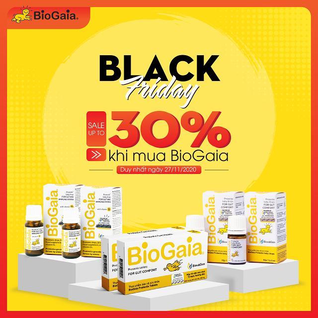 [BLACK FRIDAY 2020] - Ưu đãi giảm đến 30% khi mua BioGaia