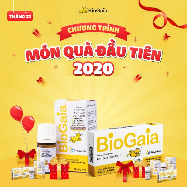Món quà đầu tiên tháng 12 - Tặng 3 năm dùng BioGaia miễn phí