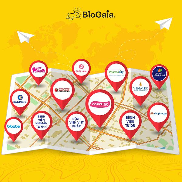Điểm bán Biogaia