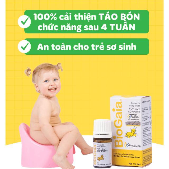 Trẻ sơ sinh bị táo bón chức năng 100% cải thiện sau 4 tuần